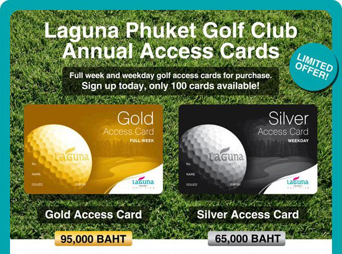 Laguna Phuket Golf Club Annual Access Cards