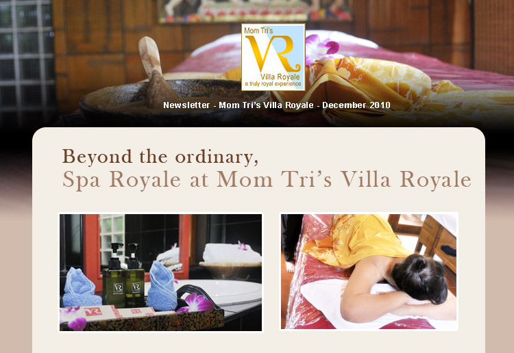 Beyond the ordinary, Spa Royale at Momtri's Villa Royale