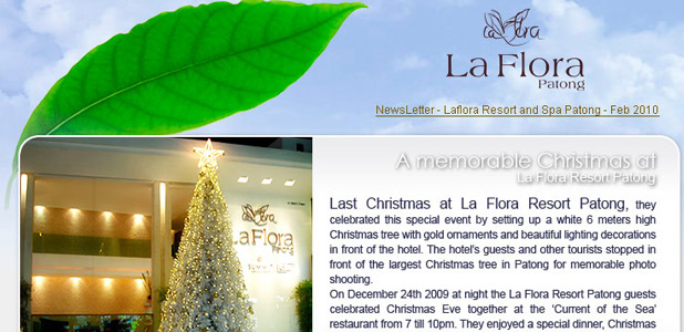 La Flora Resort Patong, Newsletter Feb 2010