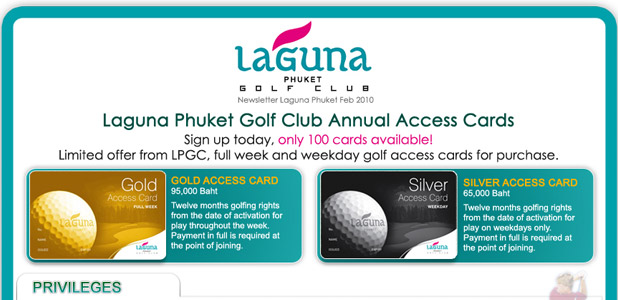 Laguna Phuket, Newsletter Feb 2010