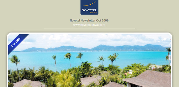 Novotel Phuket Beach Resort Panwa, Newsletter Oct 2009