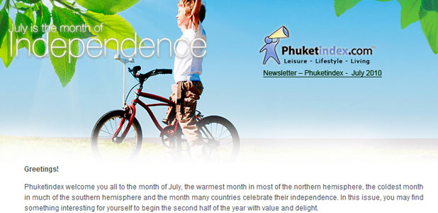 Phuketindex.com, Newsletter Jul 2010
