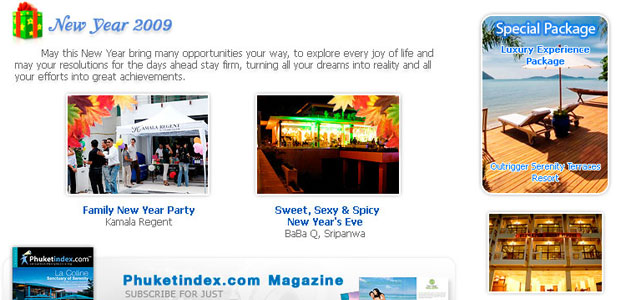 Phuketindex.com, Newsletter Jan 2009