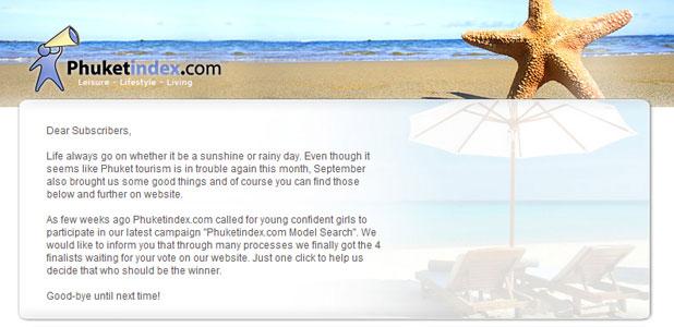 Phuketindex.com, Newsletter Sep 2009