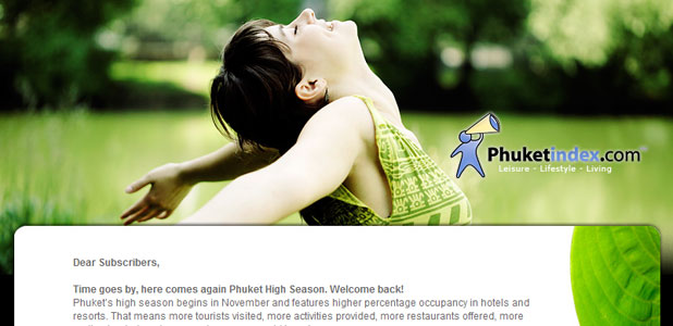 Phuketindex.com, Newsletter Nov 2009