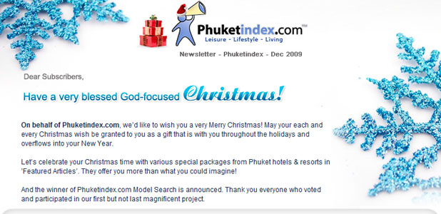 Phuketindex.com, Newsletter Dec 2009
