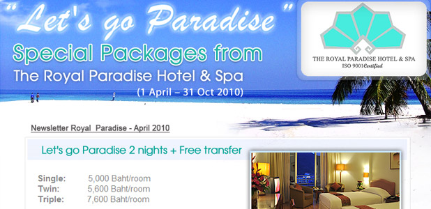 The Royal Paradise Hotel & Spa, Newsletter Apr 2010