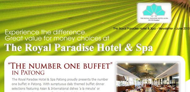 The Royal Paradise Hotel & Spa, Newsletter Jun 2010