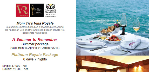 Mom Tri's Villa Royale, Newsletter  April 2014